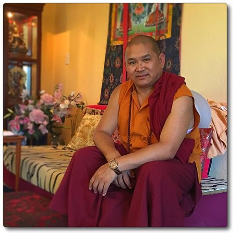 Tulku Thadral Rinpoche Relaxing