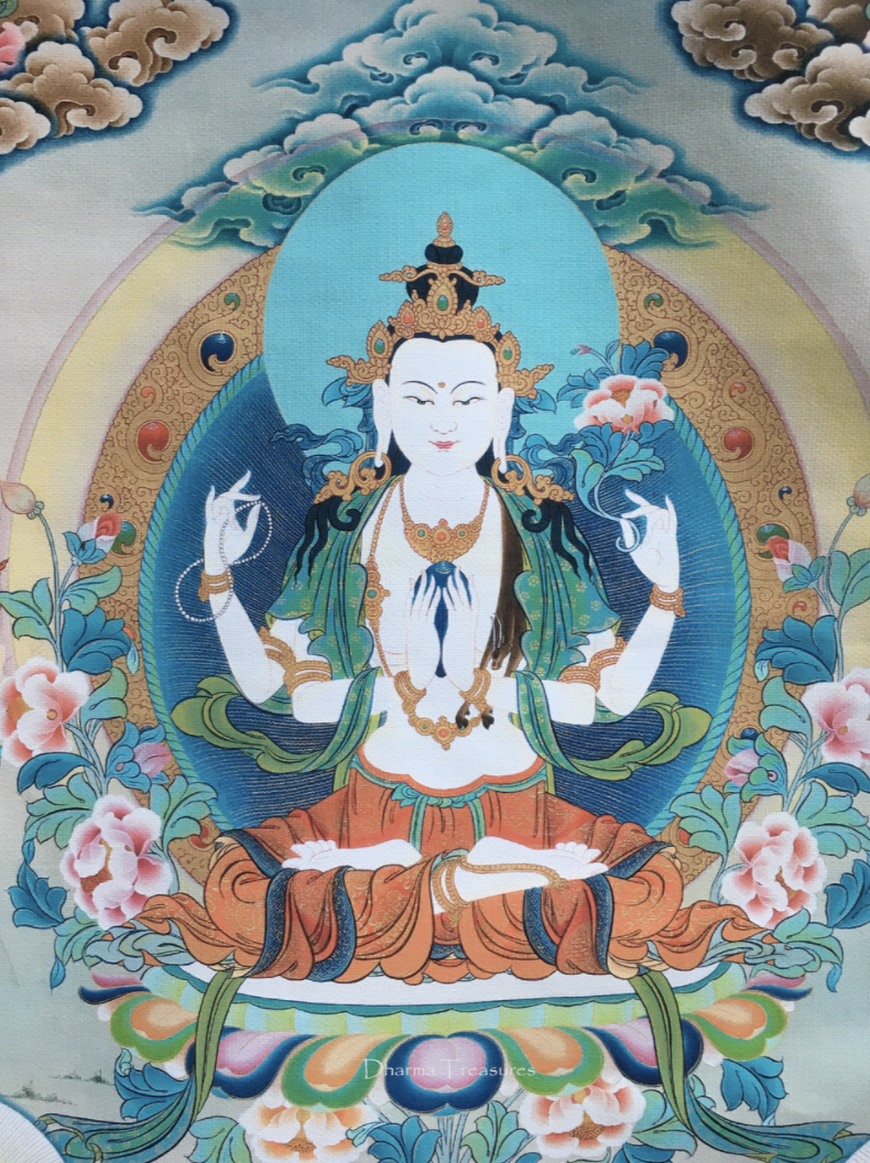 Chenrezig thangka detail