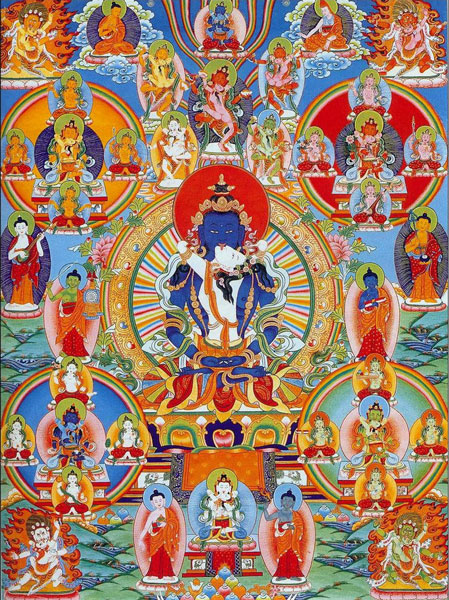 Mandala of Peaceful Deities
